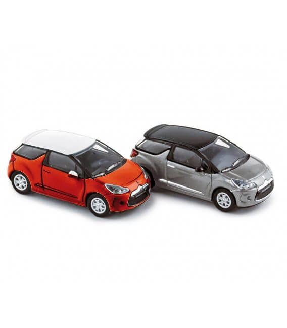 Citroën DS3 2010 (x4) - red w/ white roof & silver w/ black roof