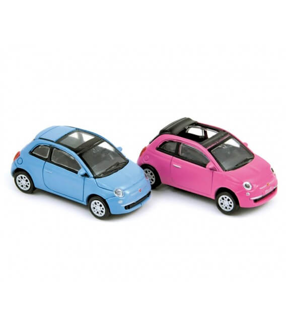 Coffret x 4 Fiat 500 Twinair blue & 500C So Pink 2010