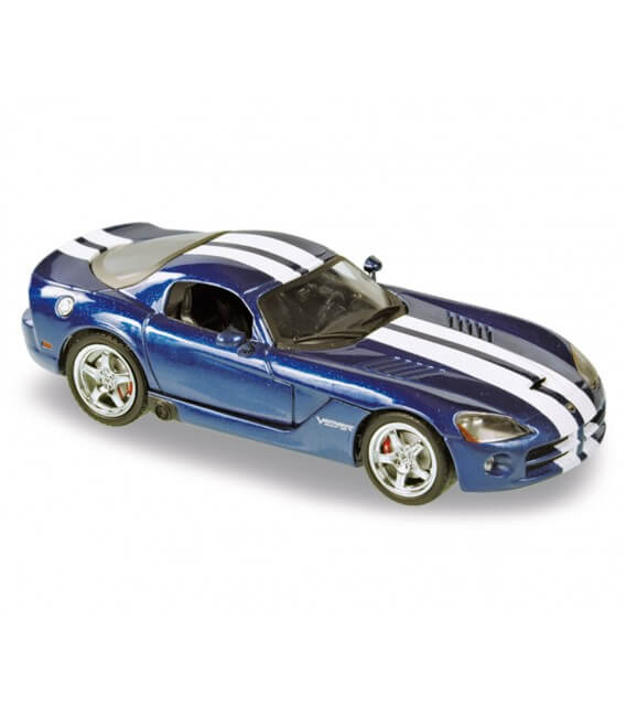 Dodge Viper Coupe 2006 blue with twin stone white racing stripes