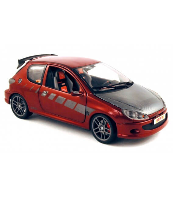 Peugeot 206 Street Racer rouge candy 1/18
