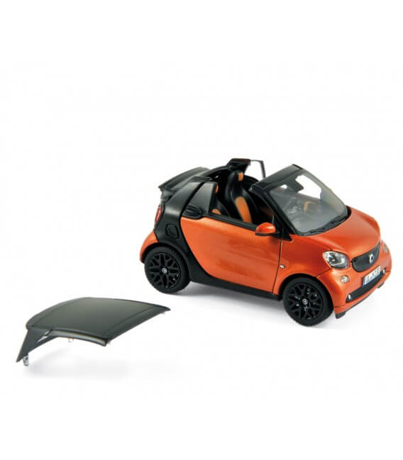 smart fortwo cabrio 2015 - orange / black gloss