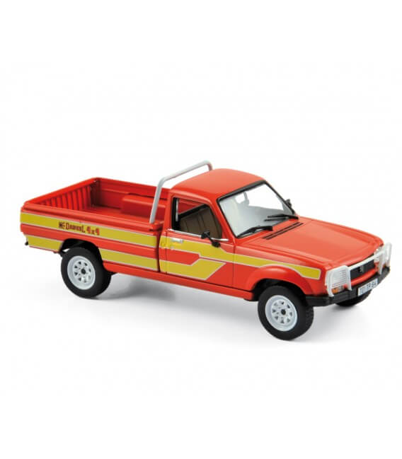 Peugeot 504 Pick Up 4x4 Dangel 1985 - Red / Yellow