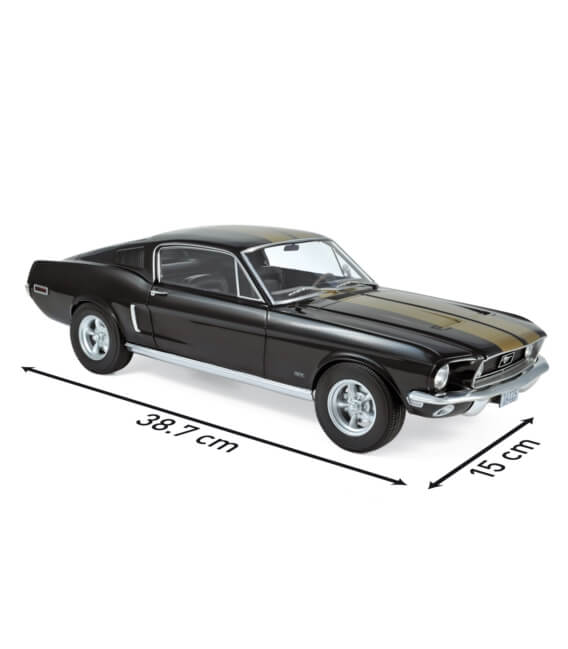 Ford Mustang Fastback 1968 - Black&Gold - EXCLU WEB - 100 PCS ONLY