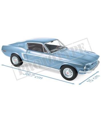 Ford Mustang Fastback GT 1968 - Light Blue metallic