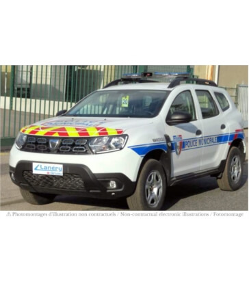 """Dacia Duster 2018 - """"Police Municipale"""" with red stripping"""