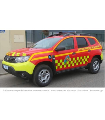 """Dacia Duster 2020 - """"Pompiers"""" with side square deco"""